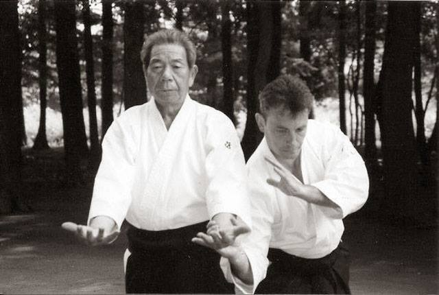 Saito sensei et Daniel Toutain Sensei (photo : eric savalli)