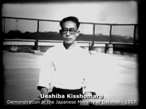 Demonstration d'aikido au ministère de la défense japonais 1957